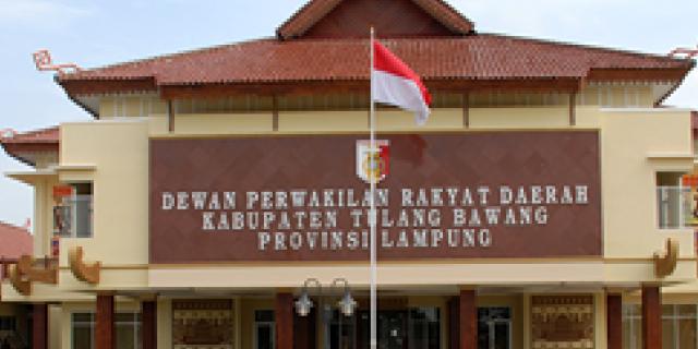 DPRD Rapat Paripurna Pelantikan 40 Anggota Dewan kab Tulang Bawang