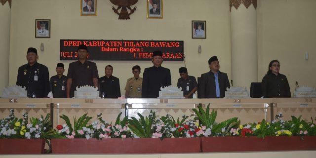 DPRD Gelar Rapat Paripurna Bersama Pemkab Tulang Bawang