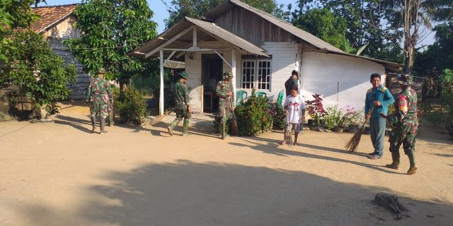 Berkat TMMD Kodim 0426, Wajah Kampung Badarou Indah Jadi Berseri