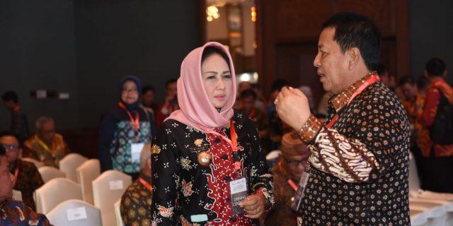 Bupati Hj Winarti SE MH menghadiri Acara IDF yang dibuka langsung oleh Wapres Jusuf Kalla