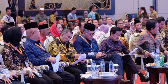 Bupati Hj. Winarti SE MH, menghadiri kegiatan Konsultasi Regional wilayah Sumatera RPJMN