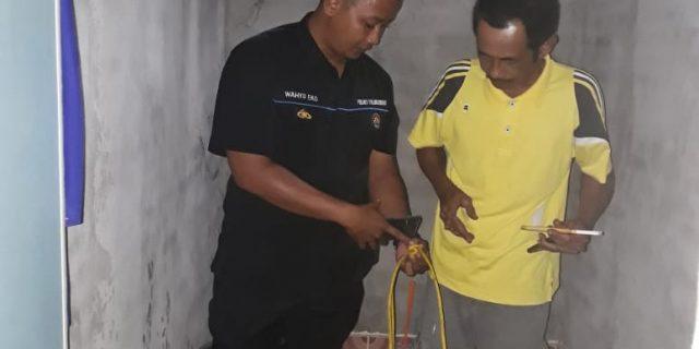 Polsek Gedung Aji Identifikasi Mayat Tergantung di Kamar Mandi