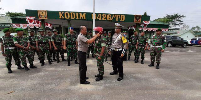 Polres TubabAjak TNI Ikut Berperan Dalam Operasi Patuh Krakatau 2019