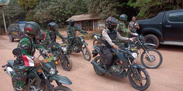 Kodim 0426 dan Polres Tuba Patroli Karhutla