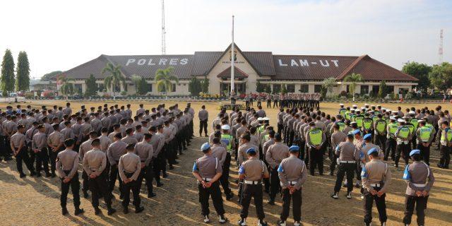 Amankan Aksi Damai PPNI dan APP-KL, Polres Lam-ut Kerahkan 453 Personil Gabungan