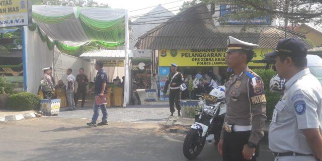 Operasi Zebra Krakatau 2019 Polres Lampung Utara Sidang Pelanggar Ditempat
