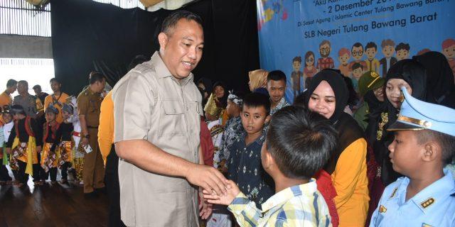 Bupati Tubaba Umar Ahmad Menghadiri acara Peringatan Hari Disabilitas Internasional