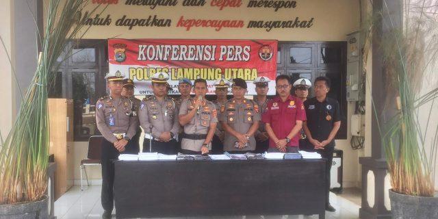 Ops Zebra Krakatau 2019, Polres Lampung Utara Tindak 2687 Pelanggar Lalulintas