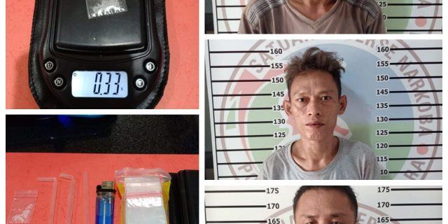 Tim Cobra Polres Lampung Utara Bekuk Bandar dan Penyalahguna Narkoba.