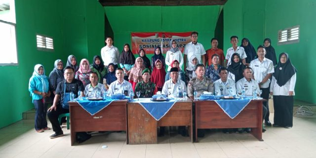 Babinsa Kampung Astra Ksetra Sosialisasikan NAPZA di Balai Kampung