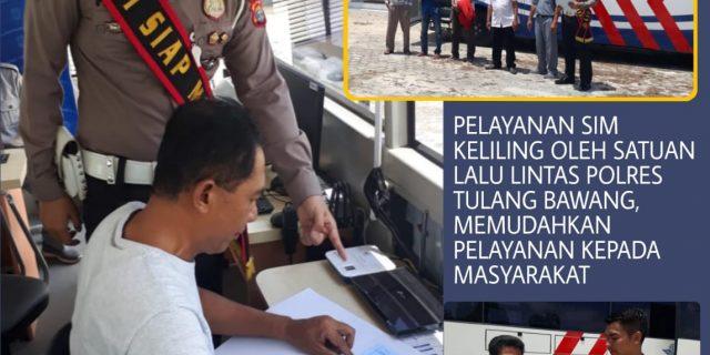 Satlantas Polres Tulang Bawang Gelar Pelayanan SIM Keliling