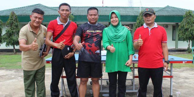 Cari Bibit Pemain Tenis Meja, Dandim 0426 Adakan Kompetisi Internal Satuan