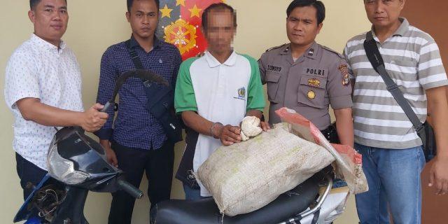 Pelaku Curas di Areal Kebun Karet Ditangkap Polsek Banjar Agung
