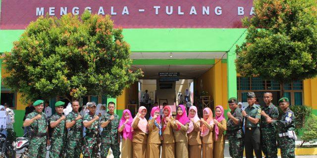 Lulusan Secaba PK Werving ke Sekolah- Sekolah didampingi Anggota Kodim 0426 Tulang Bawang