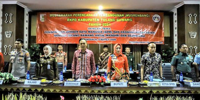 Bappedalitbang Tulang Bawang Gelar Acara Musrenbang RKPD Tahun 2021