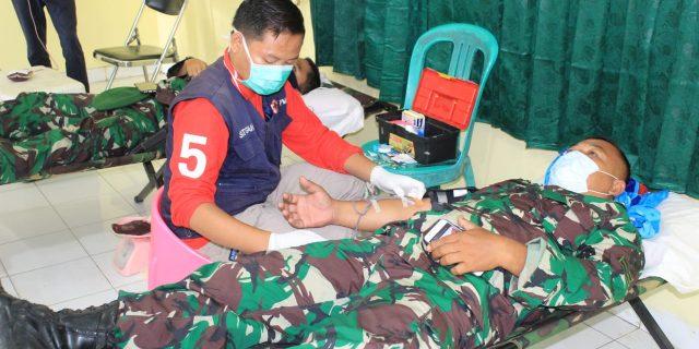 Kodim 0426 Tulang Bawang Lakukan Aksi Sosial Donor Darah.