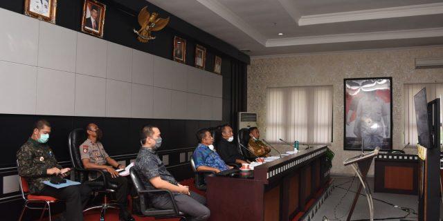 Penanganan Corona, Bupati Tubaba Teleconference dengan Gubernur dan Bupati/Walikota se-Lampung