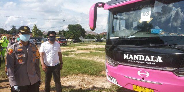 Polres Tuba Terapkan Kesehatan Dengan Rombongan Santri, Tiba dari Pulau Jawa