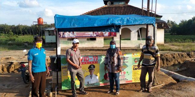 Laksanakan Himbawan Bupati Tubaba Bersama cegah pandemi Covid-19 Pemerintah Tiyuh Toto Mulyo siagakan posko team 20 orang 24 jam