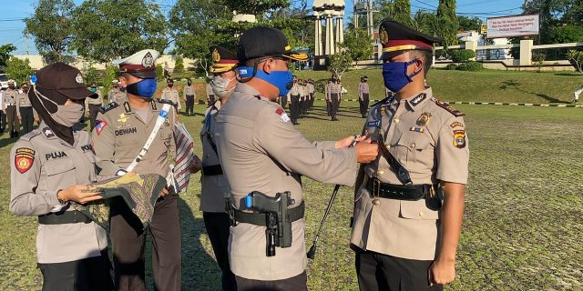 Kapolres Lampung Utara Pimpin Sertijab Kapolsek Bukit Kemuning