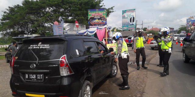 Antisipasi Pandemi Covid-19, Polres Lampung Utara Lakukan Penyekatan Pemudik