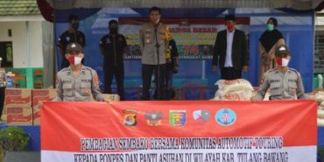 AKBP Andy Siswantoro, SIK Pimpin langsung Pendistribusian Paket Sembako Hari Bhayangkara Ke-74 TA 2020