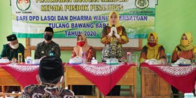 Ketua DPD Lasqi Tubaba Ingin Pondok Pesantren Makin Maju