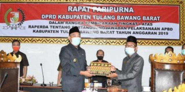 Raperda Pertangung Jawaban APBD TA 2019 Tubabar, Audit BPK Wajar Tanpa Pengecualian