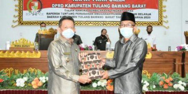 Wakil Bupati Tulang Bawang Barat Fauzi Hadan SE,.MM Menyampaikan RAPERDA T.A 2020
