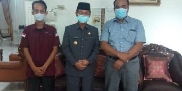 Ketua DPC Serikat Pers Republik Indonesia Lampung Utara kunjungi Kepala Kesbangpol