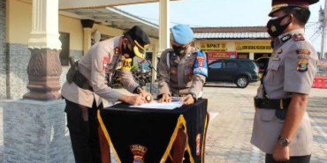 Berdasarkan Surat Telegram, Kapolres Tubaba Pimpin Sertijab Dua Perwira