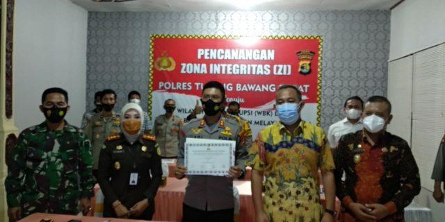 Polres Tubaba laksanakan kegiatan Zoom Meeting Pencanangan Zona Integritas (ZI) Polres Tubaba