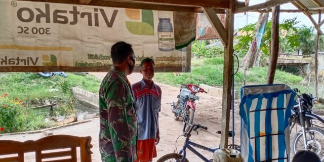 Sertu Rediyanto Menyampaikan Kekompakan masyarakat Maka Terciptanya Lingkungan yang Aman