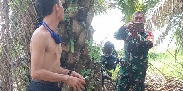 "Diduga Oknum TNI AD Membemperi/ Beg ""Ap Oknum yang Akan Menguasai Lahan Perkebunan Milik Orang lain"